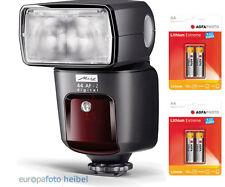 Metz Mecablitz 44 AF-2 digital Blitz für Fujifilm inkl.4 AA Lithium Zubehörpaket