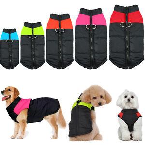 Dog Clothes Winter Waterproof Padded Coat Jacket Pet Cotton Vest Apparel S-7XL