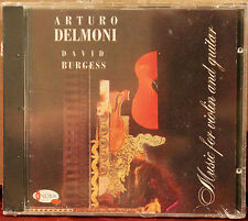 SONORA CD SACC-102: Arturo Delmoni, David Burgess, Music Violin & Guitar 1988 SS