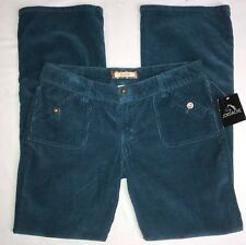 Jordache Corduroy Pants Flap Pocket Low Rise Teal  Womens/juniors 13/14 NWT