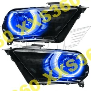 ORACLE 2x Halo HEADLIGHTS for Ford Mustang 10-14 BLUE LED Angel Eyes
