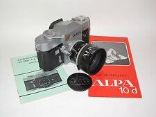 Alpa Reflex 10d SLR Film Camera with Kern-Macro-Switar 1.8/50 mm, EXC.
