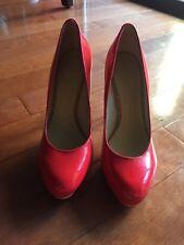Nine West 'Selma' Cork Heel Pump - Orange - Size 6M