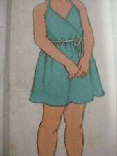 Vintage Simplicity 5125 HALTER DRESS & ROMPER Sewing Pattern Child Girl Sz 5 & 6