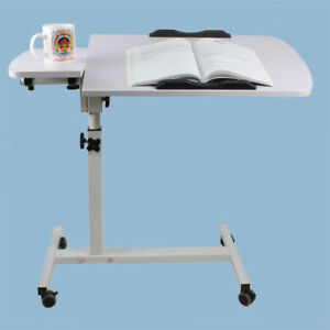 Overbed Table Medical Care Over Bed Chair for meals laptop work study 80cm White