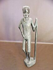 Tribal Statue Sculpture Old Man With Walking Stick
