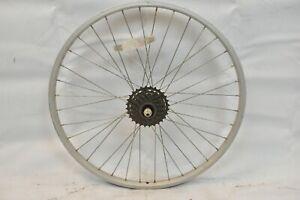 """Formula Rear Kids 24"""" Bike Wheel & Freewheel OLW135 19mm 36S AV Silver Charity!!"""