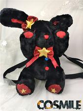 Moe Girl Punk Lolita Bunny Backpack Lovely Black Big Rabbit Doll Bag Satchel Sa