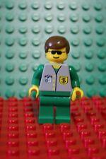 LEGO MINFIG Classic Town Male Bank - Green Legs, Brown Hair BNK001 4560 4561