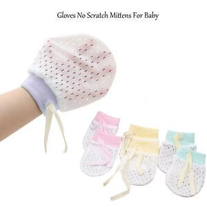 1Pair Newborn Baby Cotton Gloves No Scratch Mittens For 0-6 Months Boys Girls