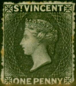 St Vincent 1871 1d Black SG15 Fine Unused Stamp