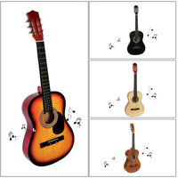 "Acoustic Guitar 38"" Full Size Adult Coffee W/Guitar Pick & Accessories USA New"