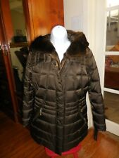 NWT APT.9 QUILTED FAUX FUR COLLAR HOODED  JACKET, COAT THICK SZ M RETAIL $200