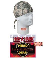DIGITAL ACU CAMO CAMOUFLAGE DESERT FITTED BANDANA Head Wrap Skull CAP DOO DO Rag