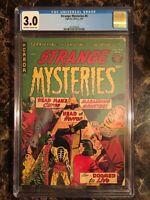 Strange Mysteries #6 CGC 3.0 Rare Pre-Code Horror HEADLESS STRANGULATION PCH/GGA