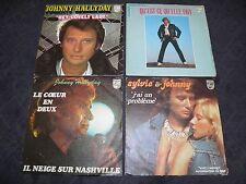 "Johnny Hallyday - 4 x EP 7"" - Original France Pressing ""Philips"" / Sylvie Vartan"