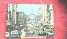 1982 real photo postcard Swanston street melbourne GT ford trams advertising