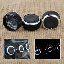 3 PCS Aluminum Alloy Air-Conditioning A/C Knobs Switch For Mazda3 2003-2009