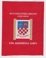 ORDER OF THE CROATIAN CROWN RED HRVATSKE KRUNE 1102-2012 PRO DEO ET PATRIA PATCH