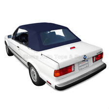 BMW 3-Series Convertible Top, 1987-93, Blue Twillfast Cloth with Plastic Window