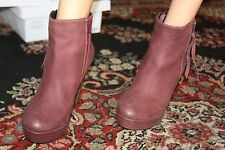 STEVE MADDEN REDUXX WINE ANKLE BOOT SIZE 11