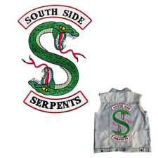 Riverdale South Side Serpents Embroidery Iron on Patches DIY Clothes Stickers