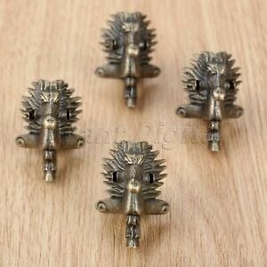 4Pcs 39*24mm Horse Head Jewelry Box Feet Leg Antique Wood Case Corner Protector