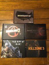 Video Game Art Book Lot 5 Resistance 2, Duke Nukem, Borderlands 2, Killzone 3 Et