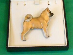 Fantastic Dog Breed Brooch jewellery pin badge -  Akita