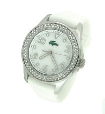 NEW LACOSTE MOTHER-OF-PEARL SILICONE LADIES WATCH 2000647