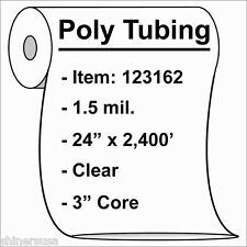 """1.5 mil Poly Tubing Roll 24""""x2400' Clear Heat Sealable 123162"""