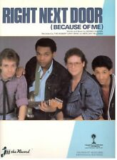 THE ROBERT CRAY BAND-RIGHT NEXT DOOR (BECAUSE OF ME) SHEET MUSIC-NEW ON SALE!!