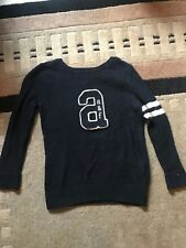 Abercrombie And Fitch Kids Navy Blue Sweater Size Large