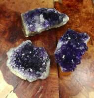 Extra Dark Amethyst Purple Crystal Cluster Display Piece Druzy Raw Stone