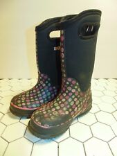 BOGS Waterproof Classic High Dots Snow Boots Size 10 Youth