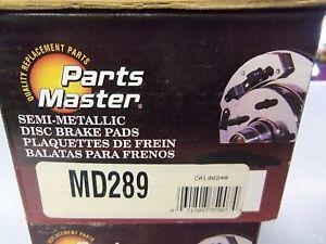 Parts Master MD289 Disc Brake Pad L@@K FREE Shipping!!