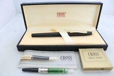 More details for vintage (c1980) cross classic century epoxy matt black fountain pen, gt