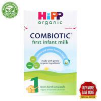 HiPP UK Stage 1 Organic Combiotic First Infant Milk Formula (800g)  1, 3, 6  box
