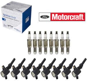 8 Spark Plugs & Coils FORD Motorcraft OEM # SP546 PZT14F DG511 5.4 V8