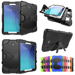 Hard Rubber Stand Case Cover Shockproof For Samsung Galaxy Tablet Tab 4 A E S2