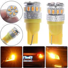 2PCS Super Bright Yellow T10 18 SMD 3014 LED 194 168 2825 W5W Car Lights Bulb US