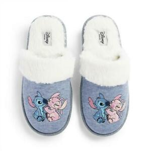 Ladies Slippers Disney Lilo And Stitch Angel Primark Nightwear Shoes Christmas