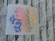 Snowflake Christmas Decal Holographic Opal Vinyl Car Tumbler Mug cup decal 3.5 H