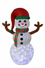 6 Foot Tall Christmas LED Inflatable Snowman with Twinkle Lights Yard Decoration