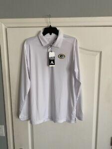 NWT Antigua Golf M Green Bay Packers Golf Shirt NFL