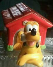 Vintage ceramic Disney Pluto And Doghouse salt & pepper shakers set