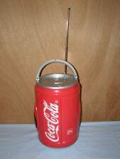 Canette Coca Cola radio cassette, hauteur 33cm