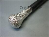 Brass Designer round Handle Vintage Wooden Walking Cane  Antique Style gift