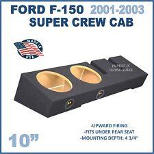 "Ford F-150 Crew-Cab 01-2003 10"" sub box / Dual 10"" Ground-shaker sub woofer box"