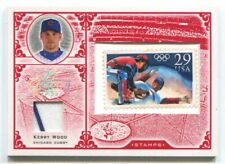 2005 LEAF CENTURY STAMP OLYMPIC RELIC #31 KERRY WOOD CUBS 27/92
